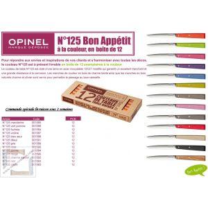 12 Couteaux de table Opinel Bon Appétit  POP mandarine