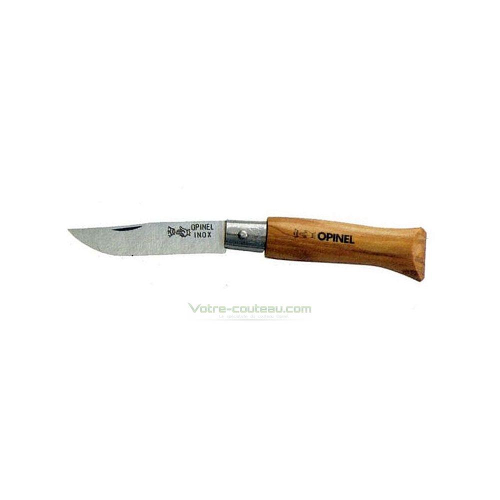 Couteau opinel n4 en olivier - Couteau de table opinel ...